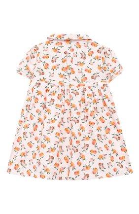 Женский хлопковое платье LES LUTINS розового цвета, арт. 20E174/Z0E MC | Фото 2