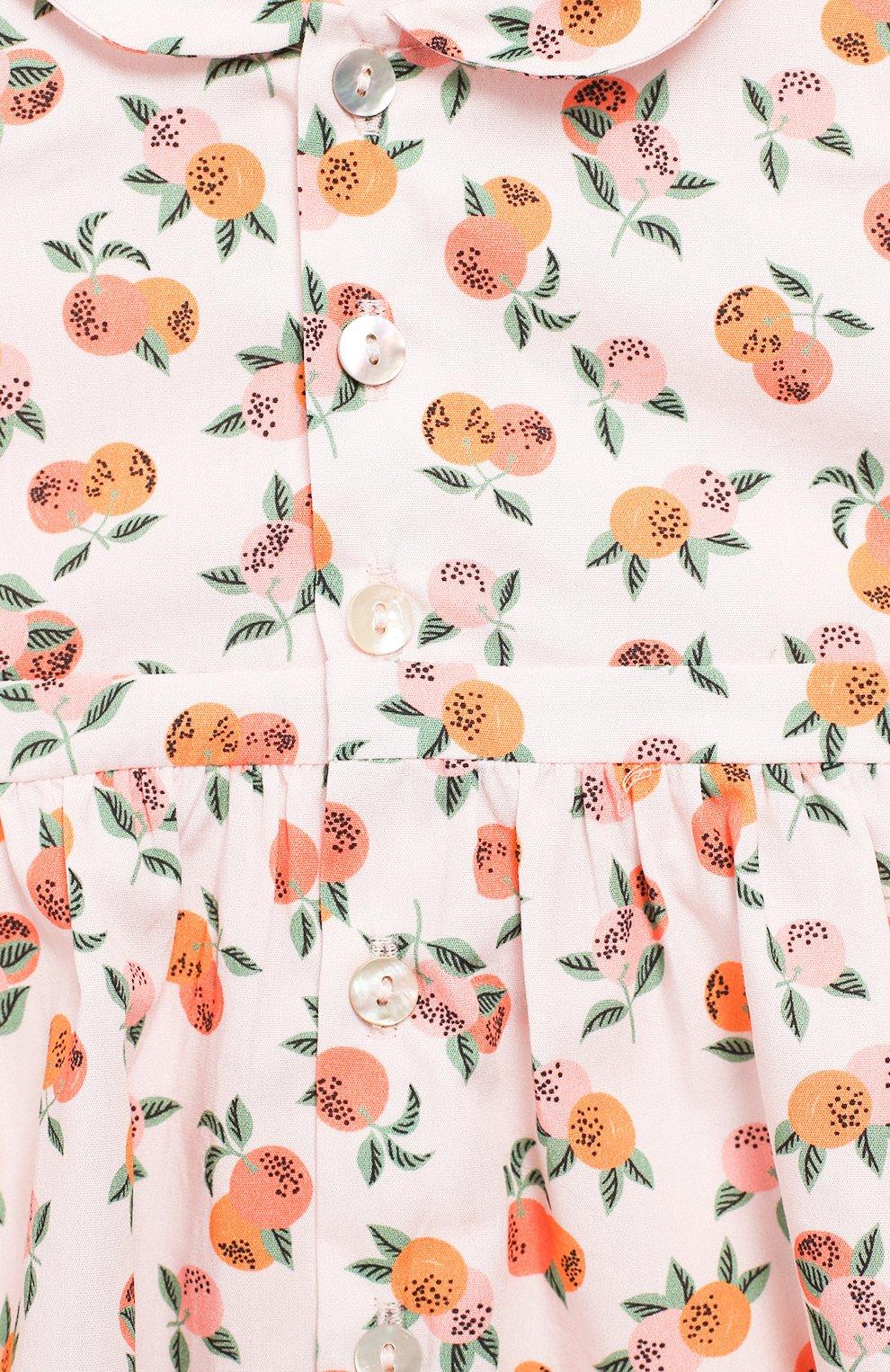 Женский хлопковое платье LES LUTINS розового цвета, арт. 20E174/Z0E MC   Фото 3