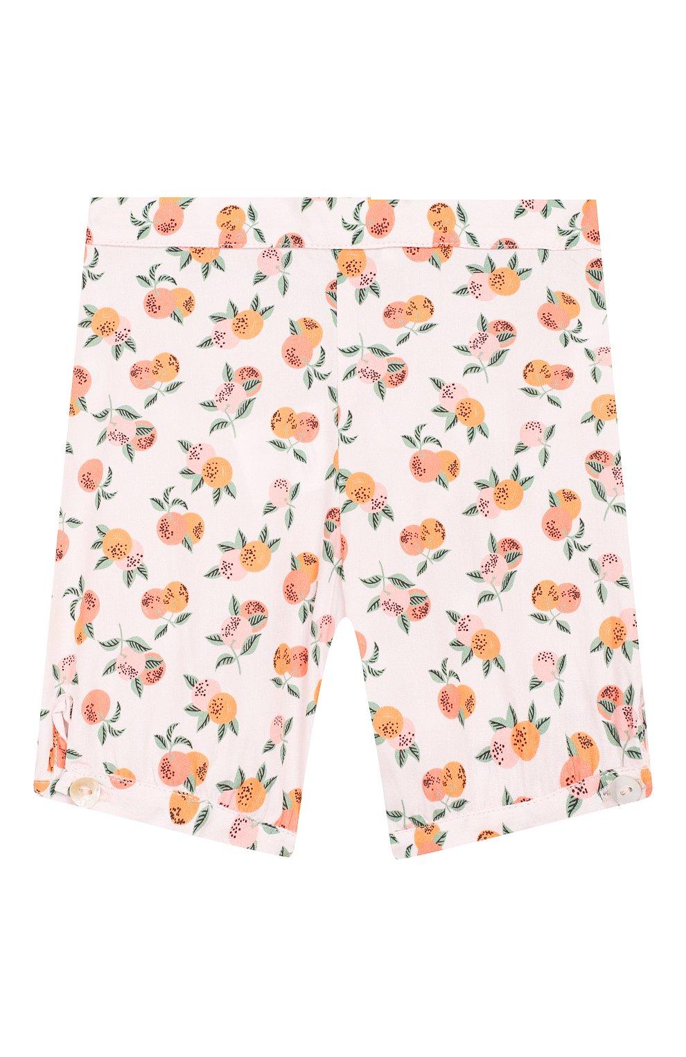 Детские хлопковые шорты LES LUTINS розового цвета, арт. 20E186/SUZIE | Фото 1
