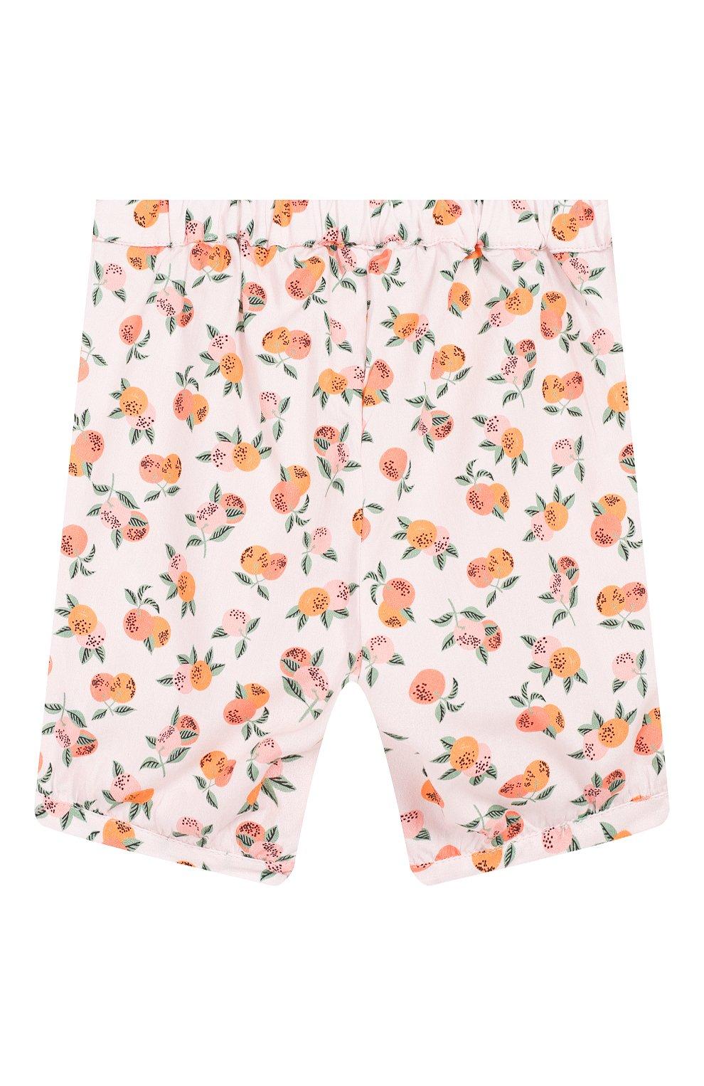 Детские хлопковые шорты LES LUTINS розового цвета, арт. 20E186/SUZIE | Фото 2