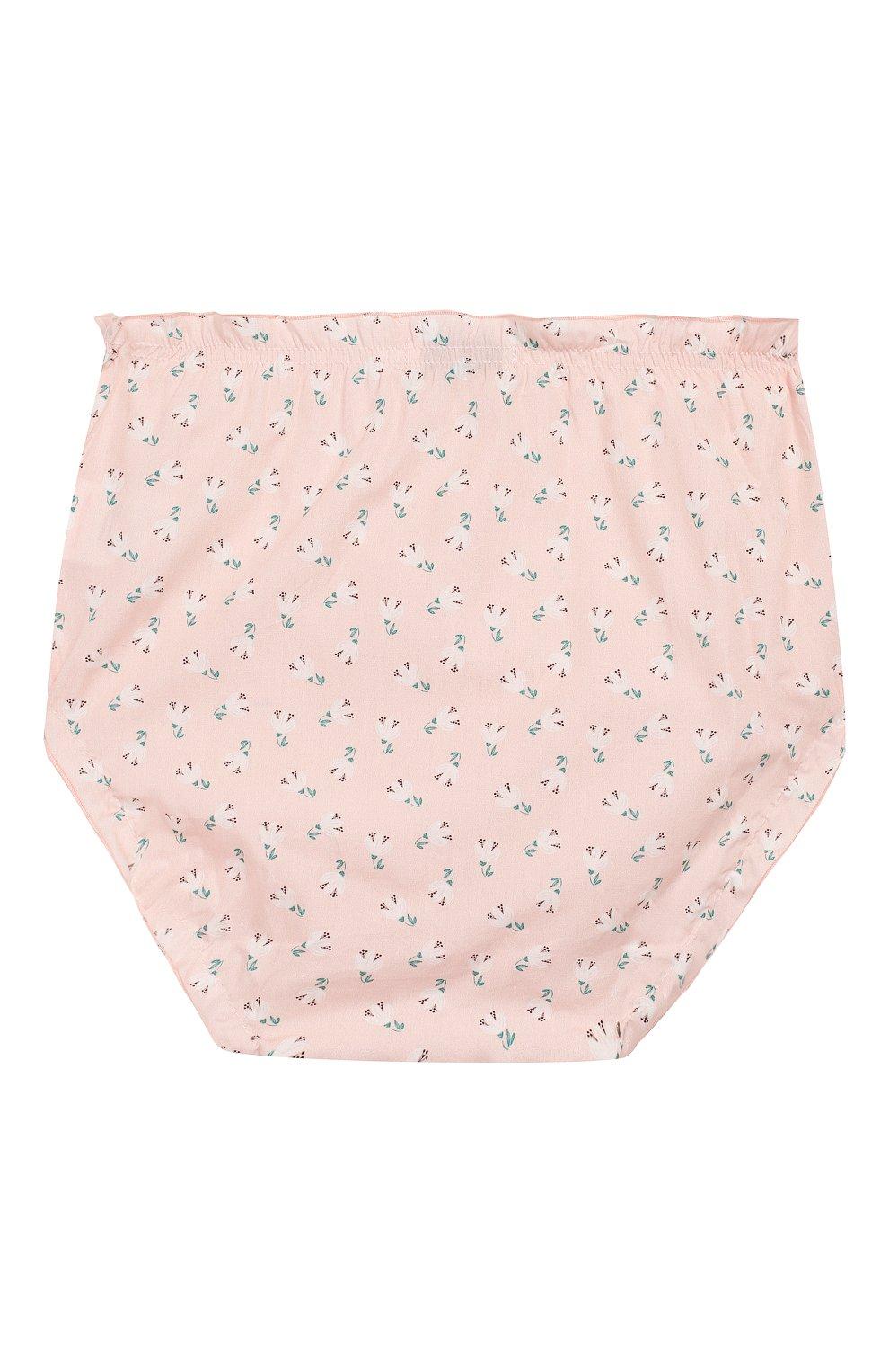 Детские хлопковые шорты LES LUTINS розового цвета, арт. 20E192/BL00MER   Фото 2