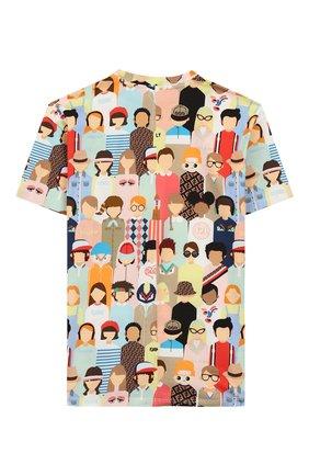 Детская хлопковая футболка FENDI разноцветного цвета, арт. JMI319/AAD3/8A-12+ | Фото 2