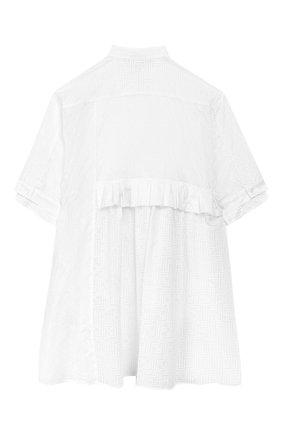 Детское хлопковое платье FENDI белого цвета, арт. JFB327/AACV/3A-6A | Фото 2