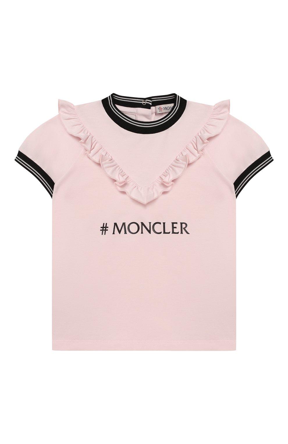 Детский комплект из футболки и брюк MONCLER розового цвета, арт. F1-951-8M710-10-8790A | Фото 2