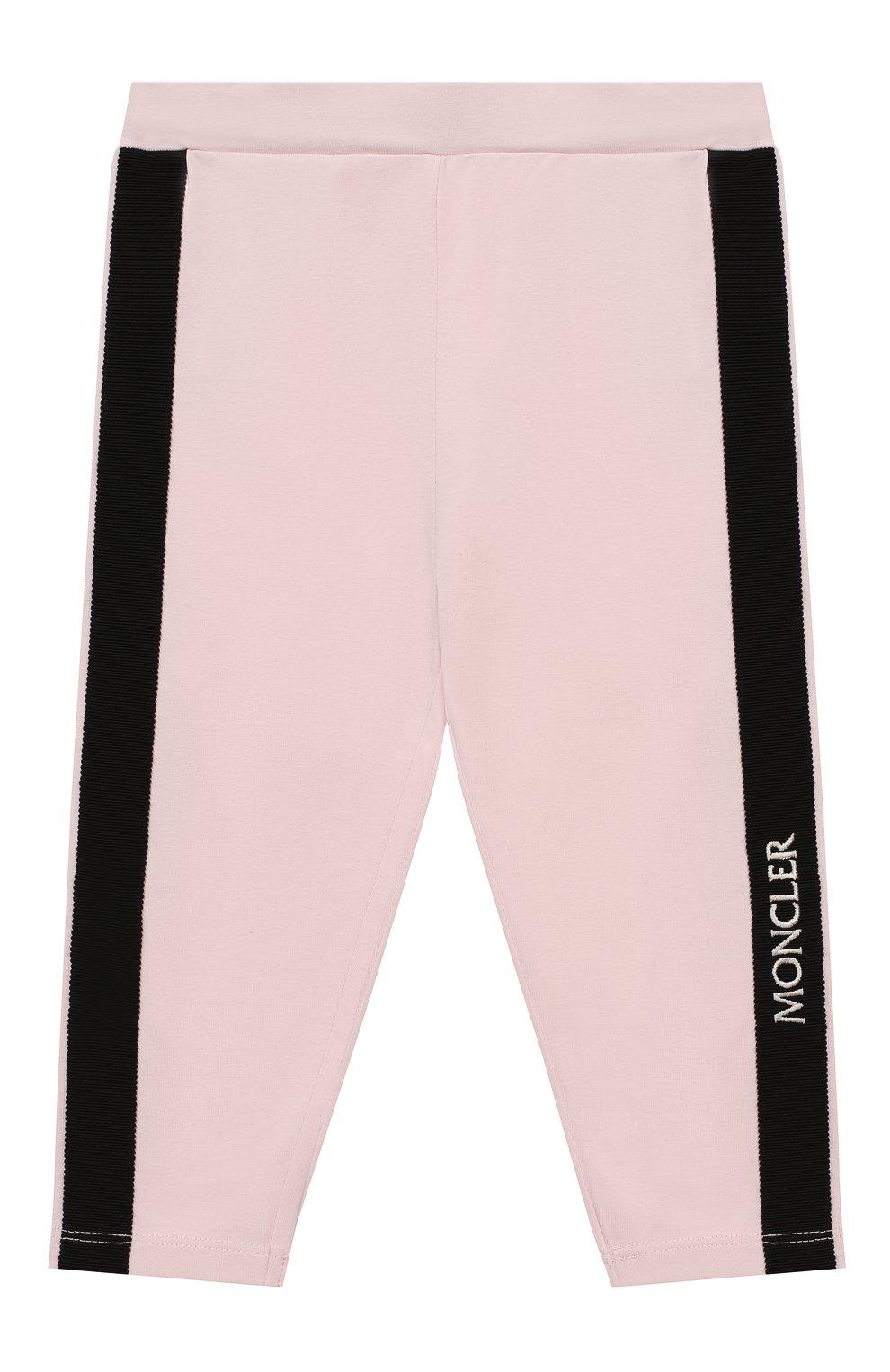 Детский комплект из футболки и брюк MONCLER розового цвета, арт. F1-951-8M710-10-8790A | Фото 4
