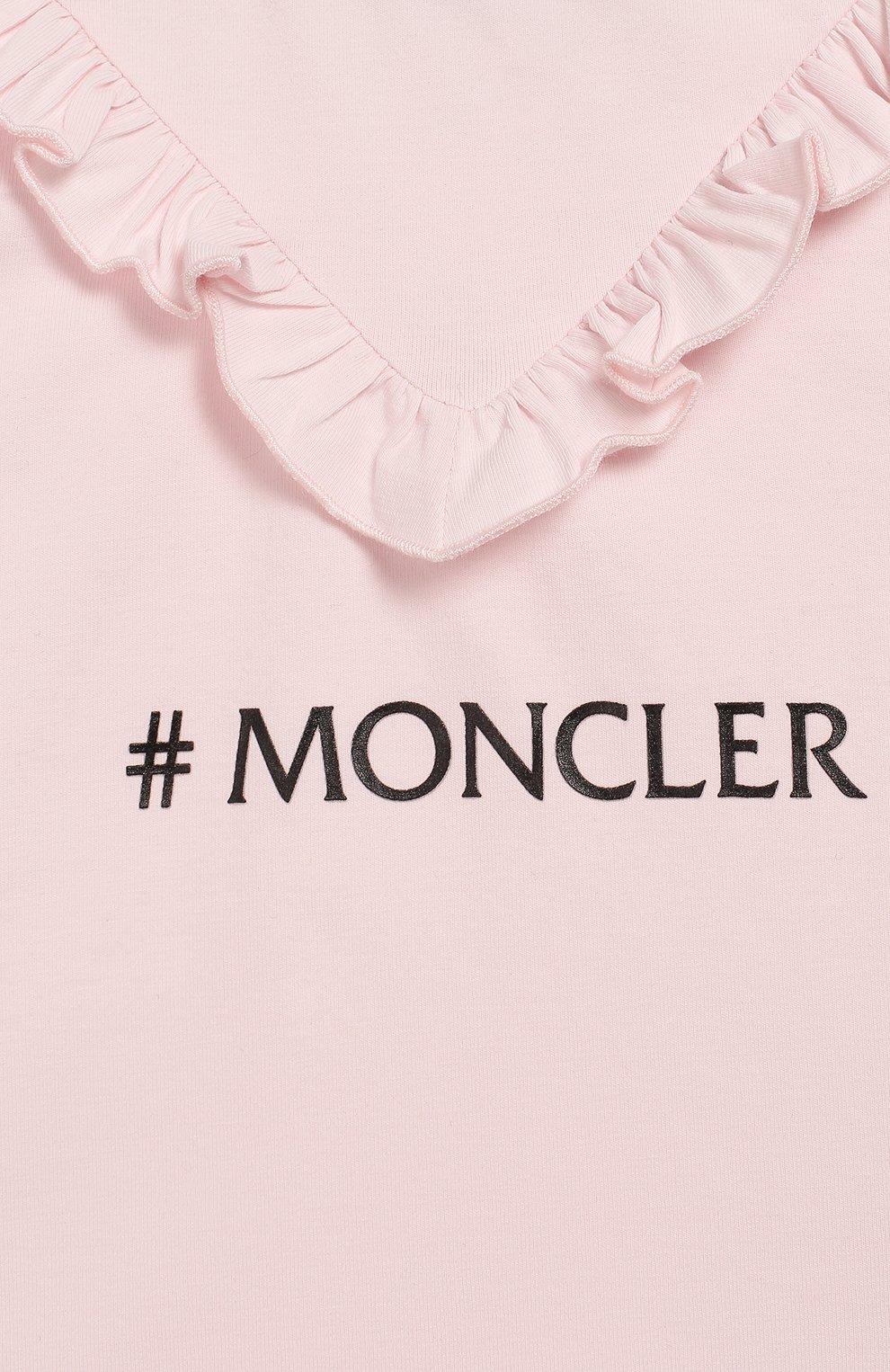 Детский комплект из футболки и брюк MONCLER розового цвета, арт. F1-951-8M710-10-8790A | Фото 6
