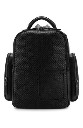 Мужской кожаный рюкзак ERMENEGILDO ZEGNA черного цвета, арт. C1558P-LHPTA | Фото 1