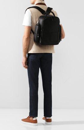 Мужской кожаный рюкзак ERMENEGILDO ZEGNA черного цвета, арт. C1558P-LHPTA | Фото 2