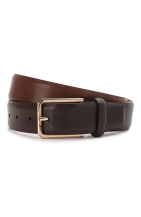 Мужской кожаный ремень SANTONI коричневого цвета, арт. CM35NS003B91H0BRS38 | Фото 1