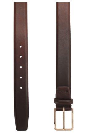 Мужской кожаный ремень SANTONI коричневого цвета, арт. CM35NS003B91H0BRS38 | Фото 2