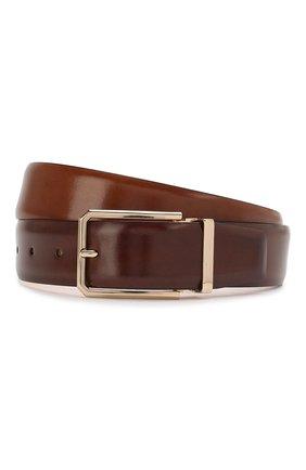 Мужской кожаный ремень SANTONI коричневого цвета, арт. CM35NS003B90HVVDM40 | Фото 1