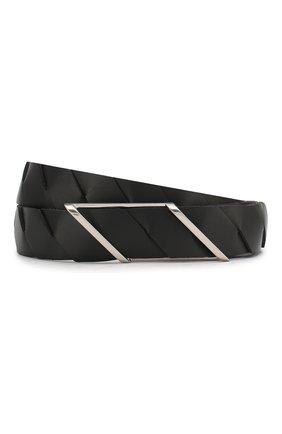 Мужской кожаный ремень BOTTEGA VENETA черного цвета, арт. 620215/VCRS1 | Фото 1