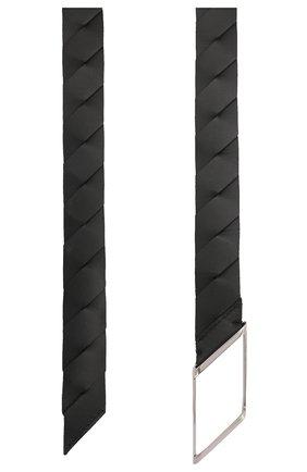 Мужской кожаный ремень BOTTEGA VENETA черного цвета, арт. 620215/VCRS1 | Фото 2