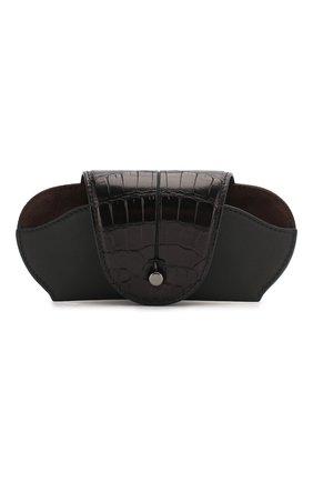 Мужская кожаный футляр для очков ERMENEGILDO ZEGNA черного цвета, арт. E1573E-LHAPS/AMIS | Фото 1