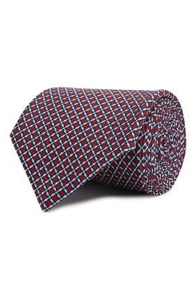 Мужской шелковый галстук ERMENEGILDO ZEGNA красного цвета, арт. Z7E13/1L8 | Фото 1