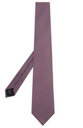 Мужской шелковый галстук ERMENEGILDO ZEGNA красного цвета, арт. Z7E13/1L8 | Фото 2