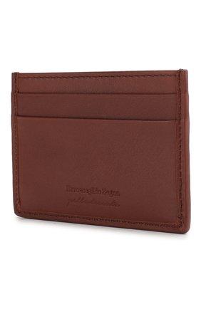 Мужской кожаный футляр для кредитных карт ERMENEGILDO ZEGNA красного цвета, арт. E1139P-LHPUN | Фото 2