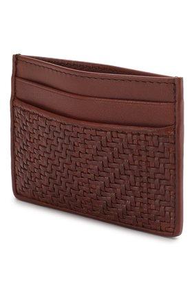 Мужской кожаный футляр для кредитных карт ERMENEGILDO ZEGNA красного цвета, арт. E1139P-LHPUN | Фото 3