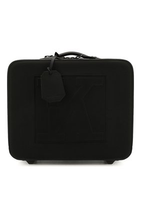 Мужской кожаный чемодан KITON черного цвета, арт. UVTR0LN00745 | Фото 1