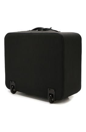 Мужской кожаный чемодан KITON черного цвета, арт. UVTR0LN00745 | Фото 2