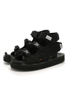 Мужские текстильные сандалии boak-v SUICOKE черного цвета, арт. 0G-086V | Фото 1
