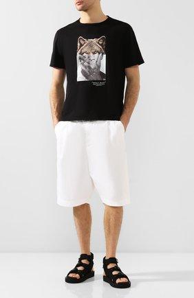 Мужские текстильные сандалии boak-v SUICOKE черного цвета, арт. 0G-086V | Фото 2