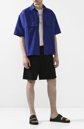 Мужские кожаные шлепанцы INUIKII черного цвета, арт. 50104-5 | Фото 2