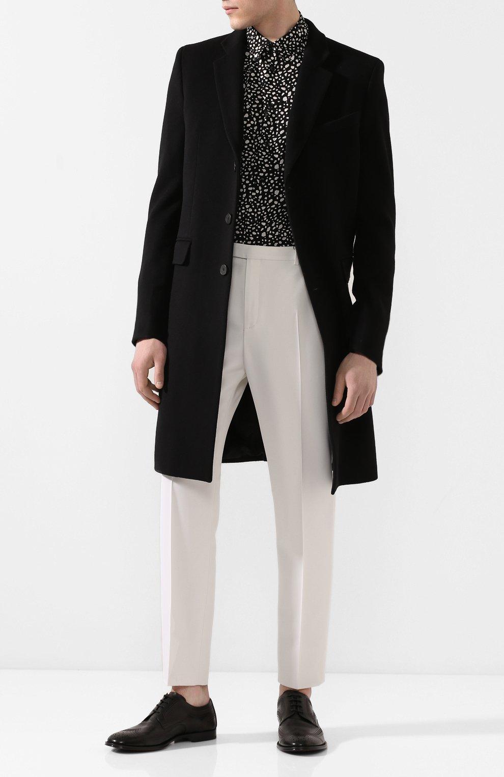Мужские кожаные дерби marsala DOLCE & GABBANA черного цвета, арт. A10535/AX129 | Фото 2