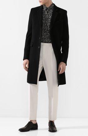 Мужской кожаные дерби marsala DOLCE & GABBANA черного цвета, арт. A10535/AX129 | Фото 2
