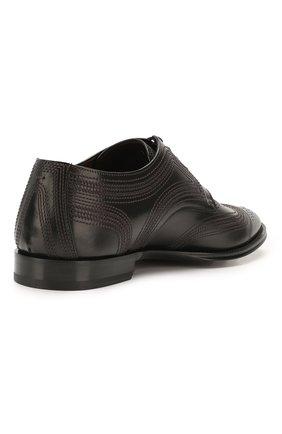 Мужские кожаные дерби marsala DOLCE & GABBANA черного цвета, арт. A10535/AX129 | Фото 4