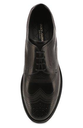 Мужские кожаные дерби marsala DOLCE & GABBANA черного цвета, арт. A10535/AX129 | Фото 5