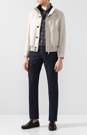 Мужские кожаные мокасины ERMENEGILDO ZEGNA коричневого цвета, арт. A4397X-LHTH0 | Фото 2