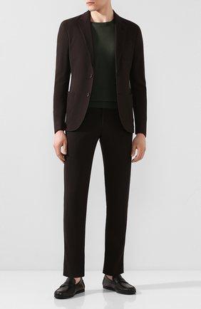 Мужские кожаные мокасины ERMENEGILDO ZEGNA черного цвета, арт. A4397X-LHTH0 | Фото 2