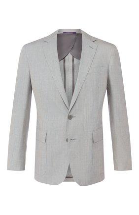 Мужской пиджак из смеси шерсти и шелка RALPH LAUREN серого цвета, арт. 798798026 | Фото 1