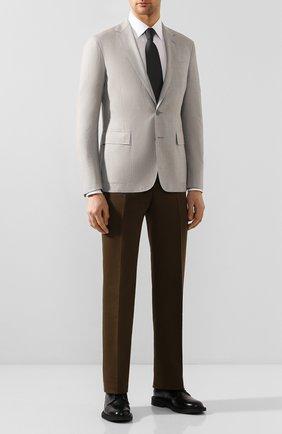 Мужской пиджак из смеси шерсти и шелка RALPH LAUREN серого цвета, арт. 798798026 | Фото 2