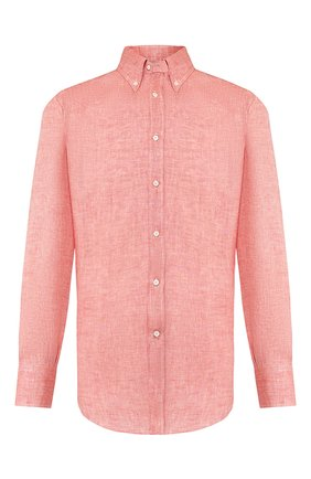 Мужская льняная рубашка BRUNELLO CUCINELLI красного цвета, арт. MB6080038 | Фото 1