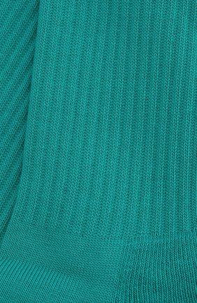 Мужские хлопковые носки BALENCIAGA бирюзового цвета, арт. 540633/472B4 | Фото 2