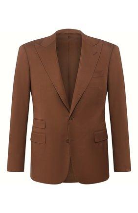 Мужской шерстяной пиджак RALPH LAUREN коричневого цвета, арт. 798794537 | Фото 1