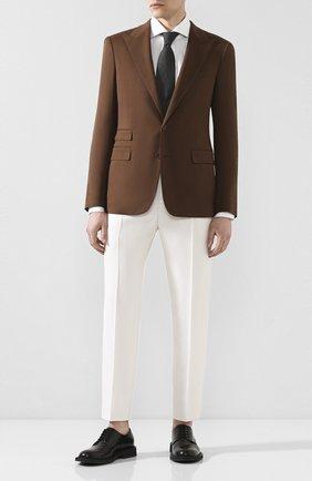 Мужской шерстяной пиджак RALPH LAUREN коричневого цвета, арт. 798794537 | Фото 2