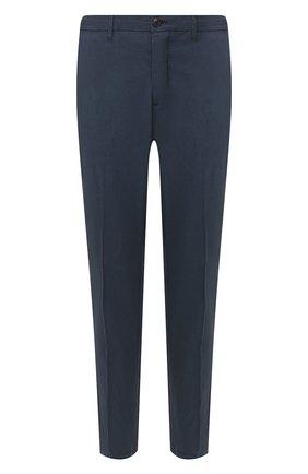 Мужской брюки из смеси хлопка и шелка ALTEA темно-синего цвета, арт. 2053051   Фото 1