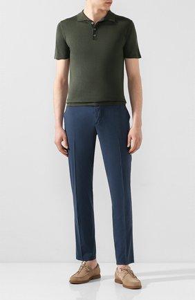 Мужской брюки из смеси хлопка и шелка ALTEA темно-синего цвета, арт. 2053051   Фото 2