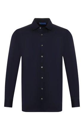 Мужская хлопковая рубашка ANDREA CAMPAGNA темно-синего цвета, арт. 60129/73700   Фото 1