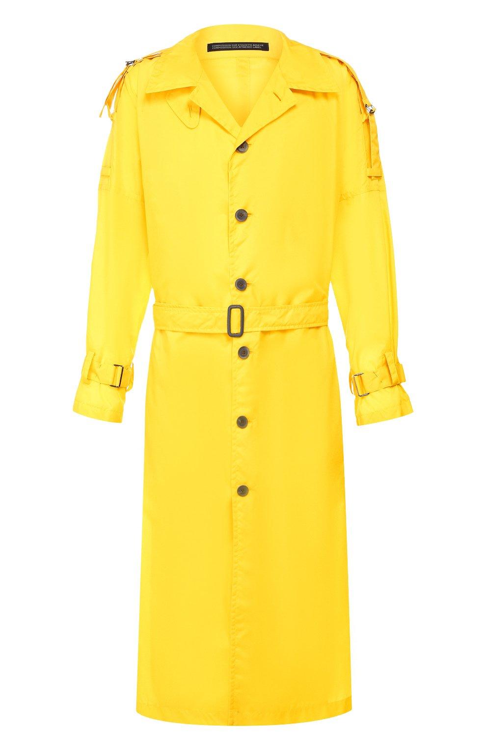 Мужской тренч YOHJI YAMAMOTO желтого цвета, арт. HN-C04-600   Фото 1