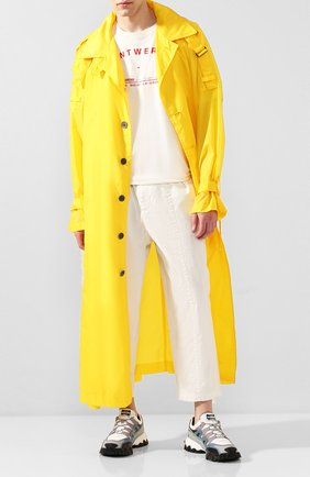Мужской тренч YOHJI YAMAMOTO желтого цвета, арт. HN-C04-600   Фото 2