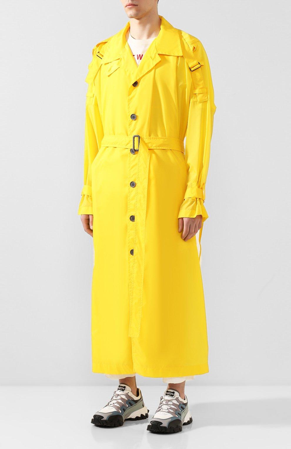 Мужской тренч YOHJI YAMAMOTO желтого цвета, арт. HN-C04-600   Фото 3