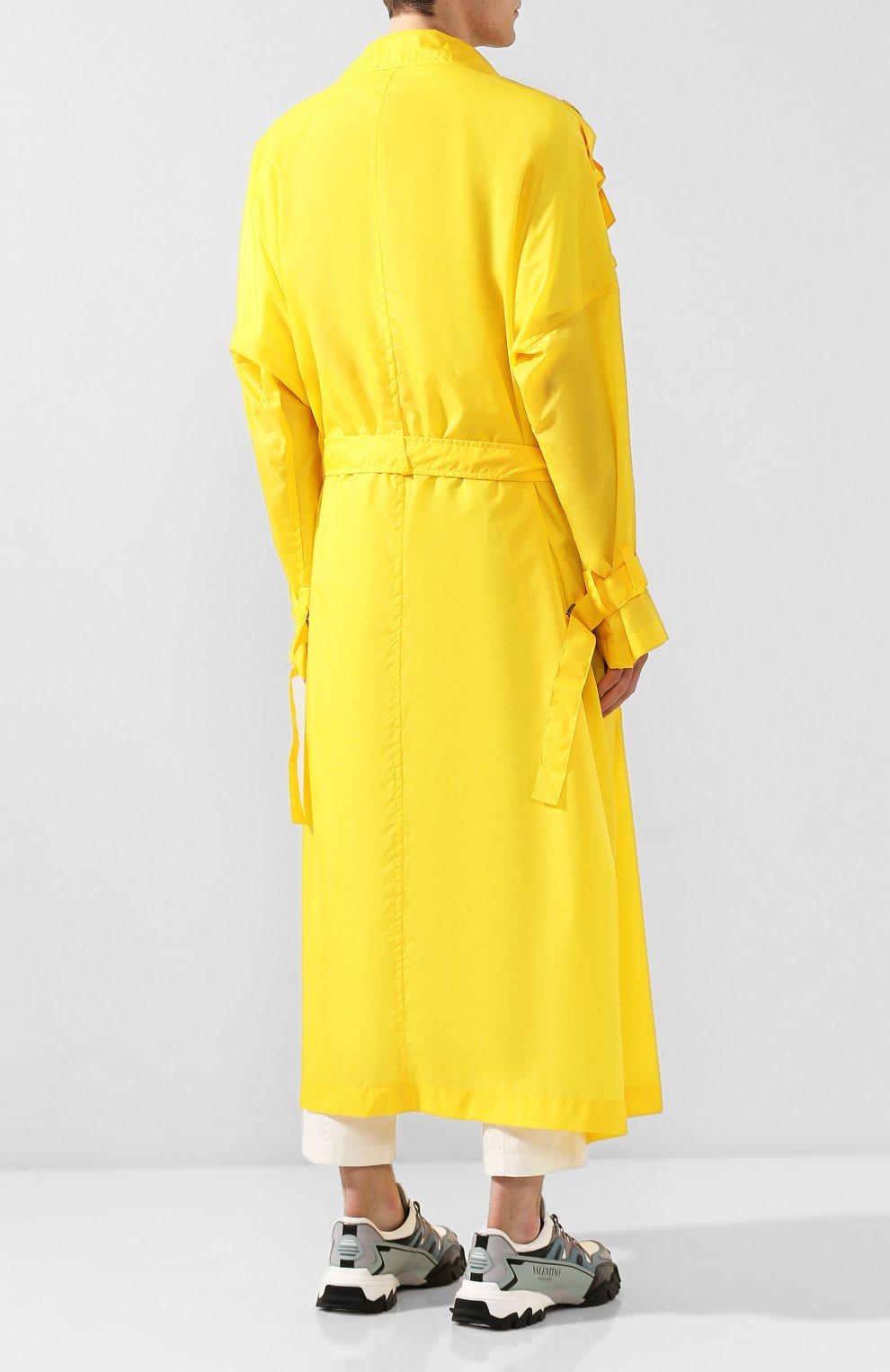 Мужской тренч YOHJI YAMAMOTO желтого цвета, арт. HN-C04-600   Фото 4