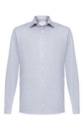 Мужская сорочка из смеси хлопка и льна ETON бирюзового цвета, арт. 1000 00765 | Фото 1