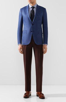 Мужская хлопковая сорочка ETON синего цвета, арт. 1000 00962 | Фото 2