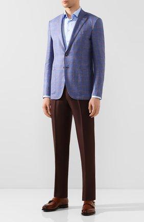 Мужская хлопковая сорочка ETON голубого цвета, арт. 1000 00991 | Фото 2