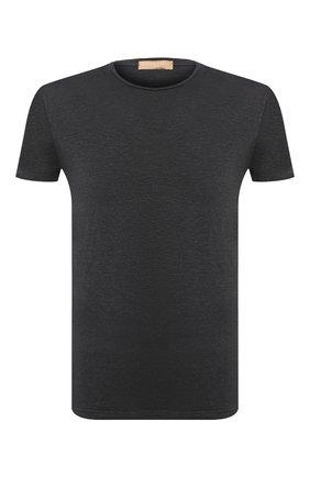 Мужская льняная футболка DANIELE FIESOLI темно-серого цвета, арт. DF 1235 | Фото 1